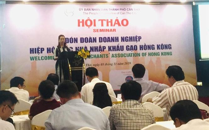 Các nhà nhập khẩu gạo Hồng Kông tìm cơ hội giao thương 17 52 34 hoi tho gio luu dn go viet nm v hong kong   nh nb